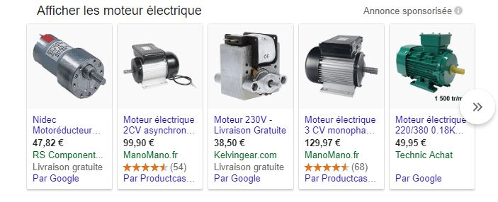 annonces google shoping